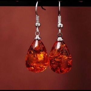 Jewelry - Amber Droplet Earrings Jewelry Gift